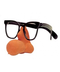 Очки с накладным носом - картошкой