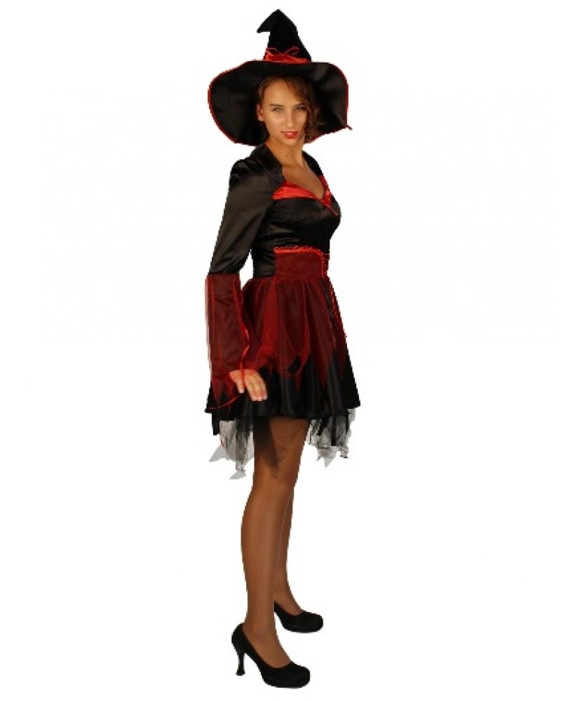 Карнавальный костюм ведьмы: Платье, шляпа (Россия) - photo#4