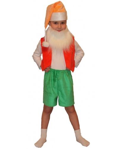 Детский костюм Гномика: шорты, жилет, колпак, борода (Россия)