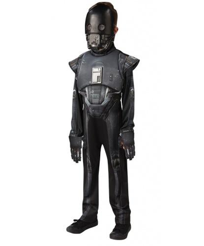 Детский костюм дроида K-2SO из Звездных Воин (Delux): комбинезон с объемными накладками, маска (Германия)