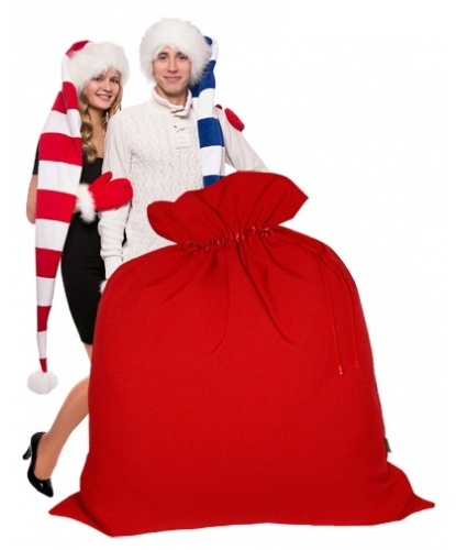 Большой мешок Деда Мороза (140 х 150 см)