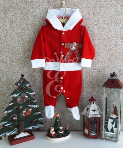 Новогодний комбинезон для малышей Маленький Санта