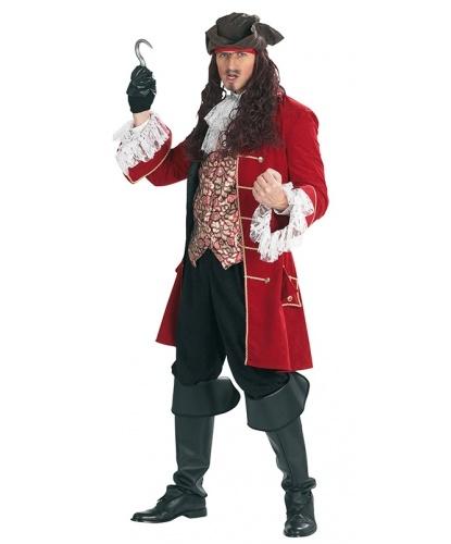 Костюм пирата Капитана Крюка: камзол со вшитой жилеткой, брюки, накладки на обувь, жабо (Германия)