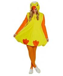 Взрослый костюм цыпленка: длинная кофта с капюшоном (Германия)