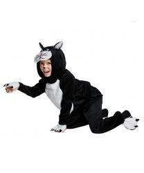 Детский костюм кота: кофта с капюшоном, штаны (Германия)
