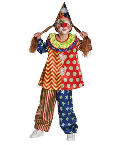 Детский костюм клоуна: штаны, кофта, колпак (Германия)
