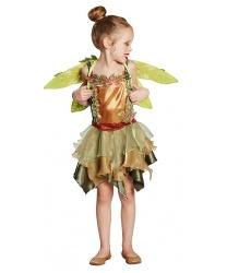 Детский костюм лесной феи: платье, крылья (Германия)