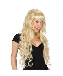 Парик блондинки с длинными локонами