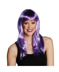 Парик фиолетовый со светлыми прядями - Парики, арт: 8000
