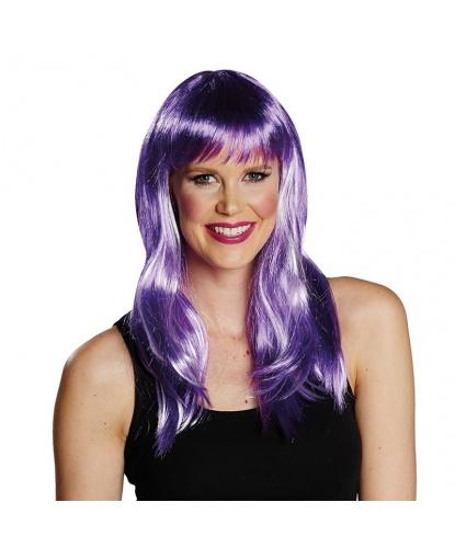 Парик фиолетовый со светлыми прядями: фиолетовый (Германия)