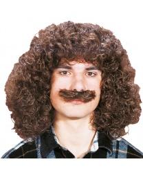 """Кудрявый парик с усами """"Wolfgang"""""""