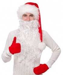 Кудрявая борода Деда Мороза (50 см)