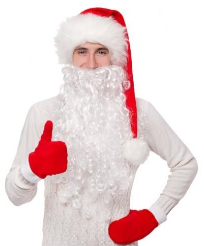 Кудрявая борода Деда Мороза (50 см) (Россия)