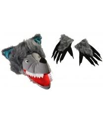 Шапка и перчатки волка