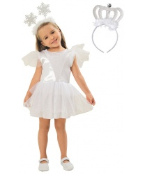 Платье снежинки с короной