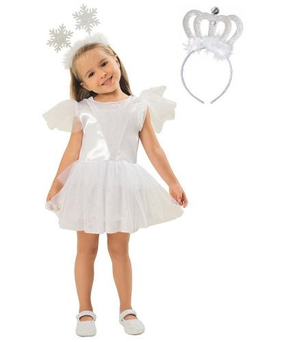 Платье снежинки с короной: платье, корона на обруче (Польша)