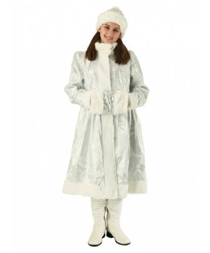 Костюм Снегурочки Внучки: шуба шапка муфта (Россия)