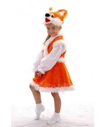 Детский костюм лисы: юбка, жилетка, шапка (Украина)