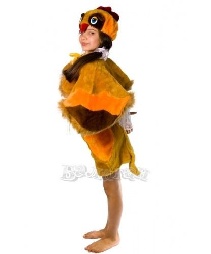 Детский костюм курочки: юбка с хвостиком, накидка-крылья, шапочка (Украина)