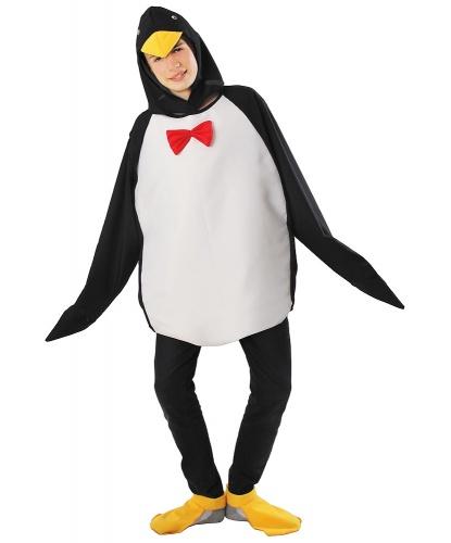 Взрослый костюм пингвина: головной убор, кофта, накладки (Польша)
