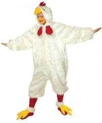 Взрослый костюм белой курицы