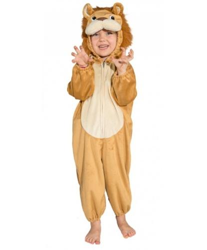 Детский костюм льва: комбинезон с капюшоном (Германия)