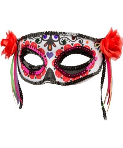 Мексиканская маска , полиэстер, пластик, пайетки (Германия)