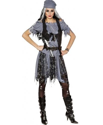 Костюм готической пиратки: юбка, блузка, жилетка (Германия)