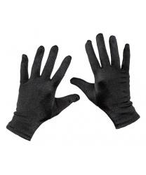 Короткие сатиновые перчатки (черные)