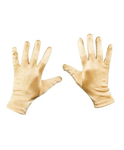 Короткие сатиновые перчатки (золотые) (Германия)