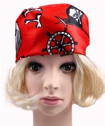 Красная бандана пирата - На голову, арт: 8078