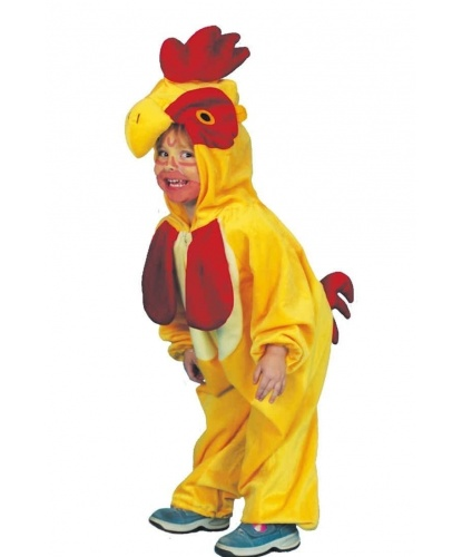 Детский костюм петушка: комбинезон с капюшоном (Германия)