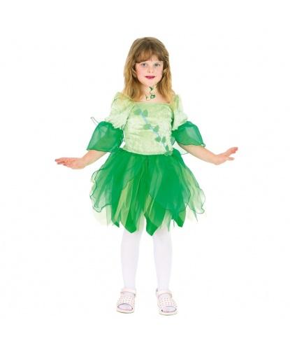 Детский костюм зеленой феи: платье, крылья (Германия)