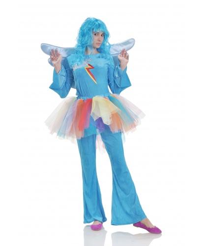 Костюм Радуги Дэш (My Little Pony): кофта с крыльями, штаны с юбкой-пачкой, парик (Украина)