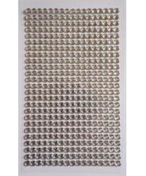 Стразы самоклеющиеся серебряные - Стразы, арт: 8099