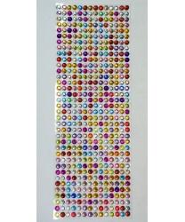 Стразы самоклеющиеся разноцветные - Стразы, арт: 8100