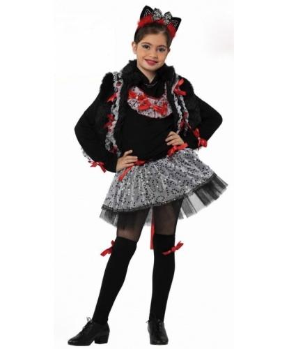 Костюм мисс Китти: юбка, кофта, жилетка, гетры, ушки (Италия)