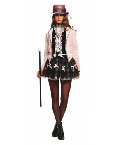 Костюм в стиле Кабаре: юбка, рубашка, жилетка, пиджак, цилиндр (Италия)