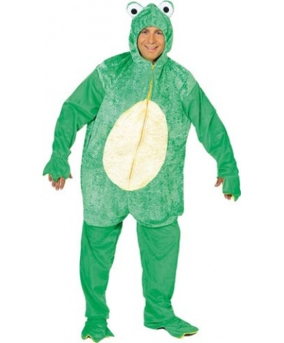 Взрослый костюм лягушки: комбинезон с капюшоном (Германия)