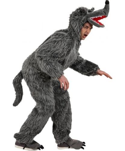 Взрослый костюм волка: комбинезон с капюшоном (Германия)