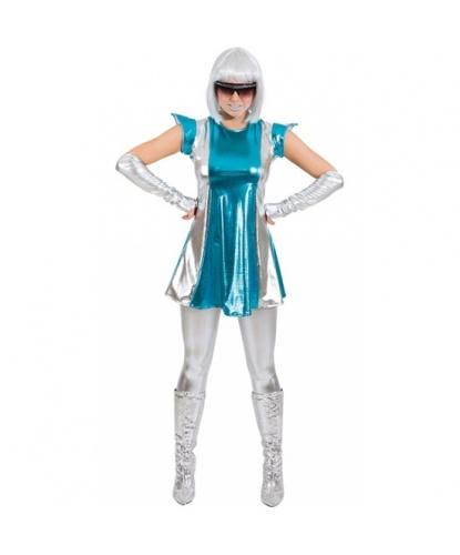 Платье космической женщины: платье, перчатки (Германия)