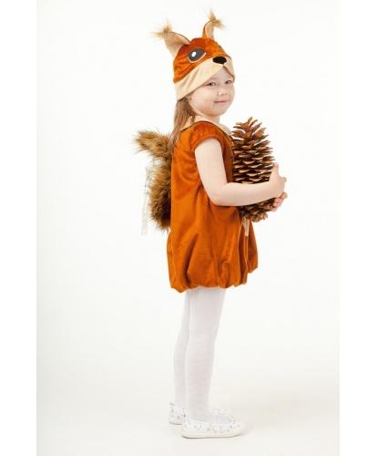Детский костюм белочки: платье, шапочка (Россия)