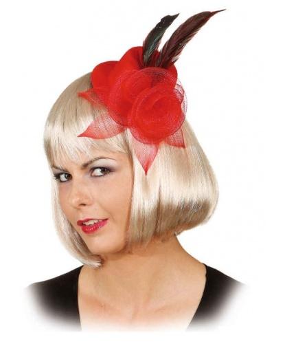 Красная шляпка с цветком (Германия)