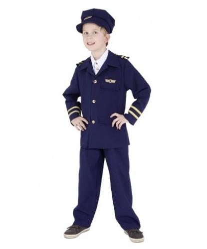 Детский костюм пилота: пиджак, штаны, фуражка (Германия)