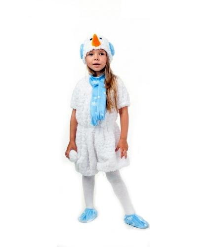 Костюм Снеговик кудрявый: комбинезон, шапочка, носочки (Россия)