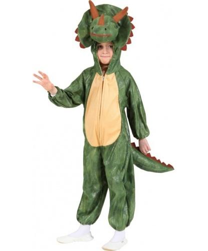 Детский костюм динозавра (трицератопс): комбинезон с капюшоном (Германия)