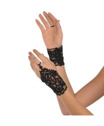 Короткие кружевные перчатки на один палец