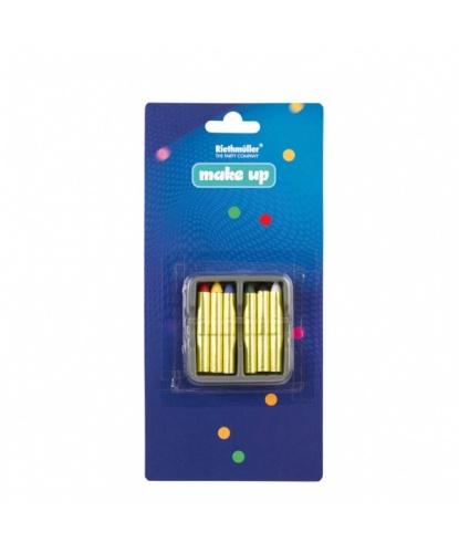 Набор грима, 6 карандашей: черный, белый, голубой, красный, зеленый, желтый (Германия)