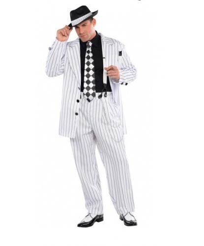 Костюм в гангстерском стиле: пиджак, брюки, шляпа, подтяжки, галстук (Германия)