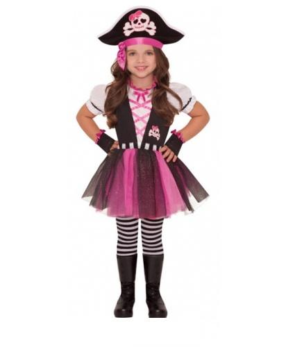 Детский костюм пиратки : платье, шляпа, леггинсы, митенки (Германия)